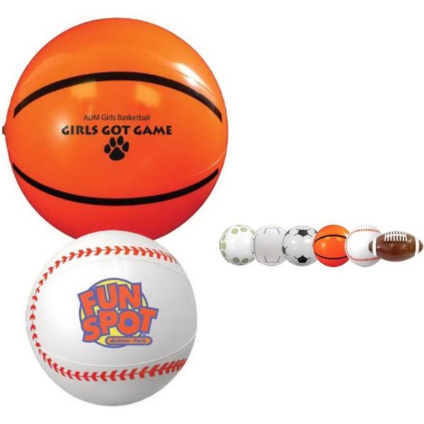 """9"""" Sport Beach Ball-Baseball"""