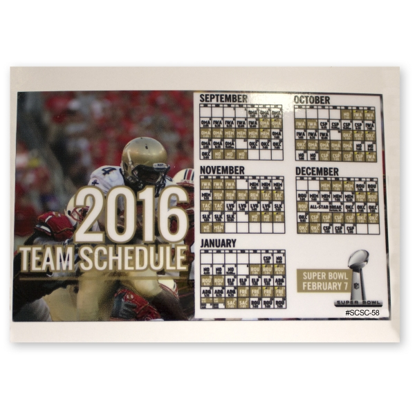 "Sports Calendar 5x8"" Static Cling Vinyl Decal"