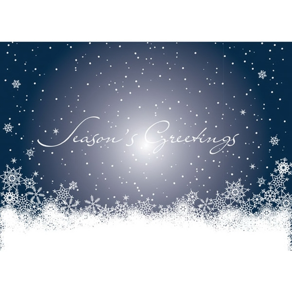 Snowflake Wonderland Greeting Card