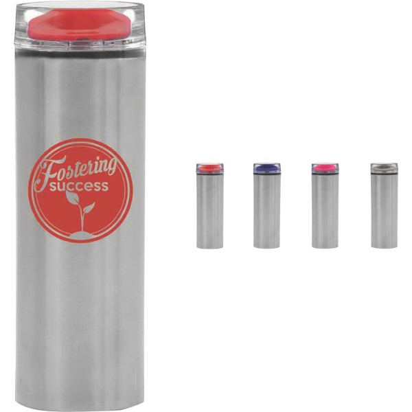 Parisian Collection Travel Cup - Double wall stainless steel exterior travel cup. 15 oz.