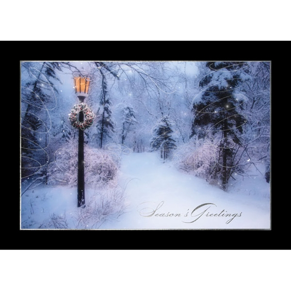 Lighted Lamp Post Greeting Card