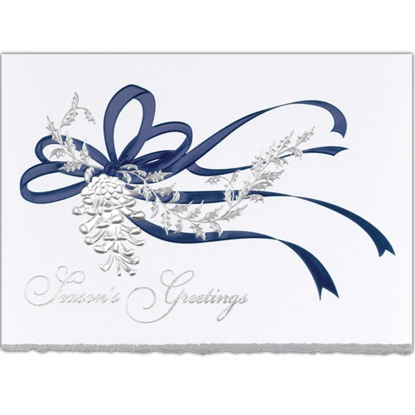Blue Ribbon Greeting Card