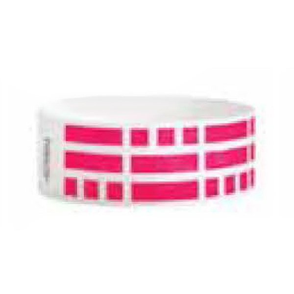 """Rhod Red Wristband - Pre-printed strong band Tyvek wristband, 1"""" x 10"""". Rhod red bricks. Blank."""