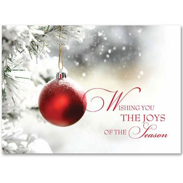 Single Red Ornament Greeting Card