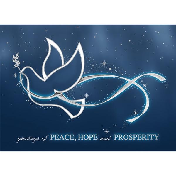 Peace, Hope and Prosperity Greeting Card
