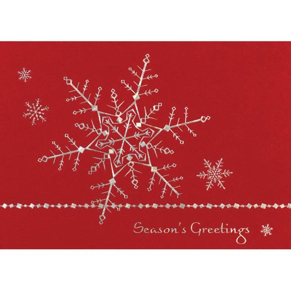 Silver Dainty Snowflakes Greeting Card