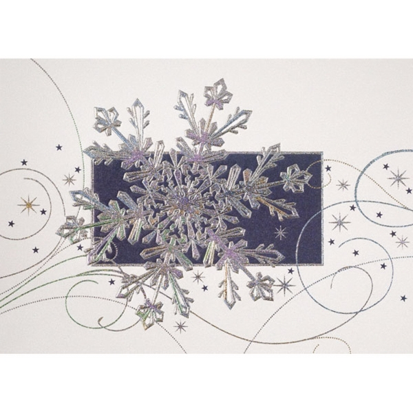 Snowflake, Stars & Swirls Greeting Card