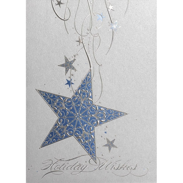 Blue Star Wishes Greeting Card