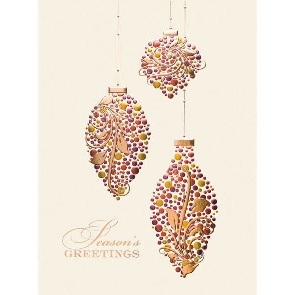Teardrop Ornamental Greetings Card
