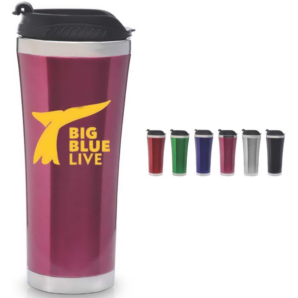 Travello Collection Travel Cup - Double wall stainless steel travel cup. 18 oz.
