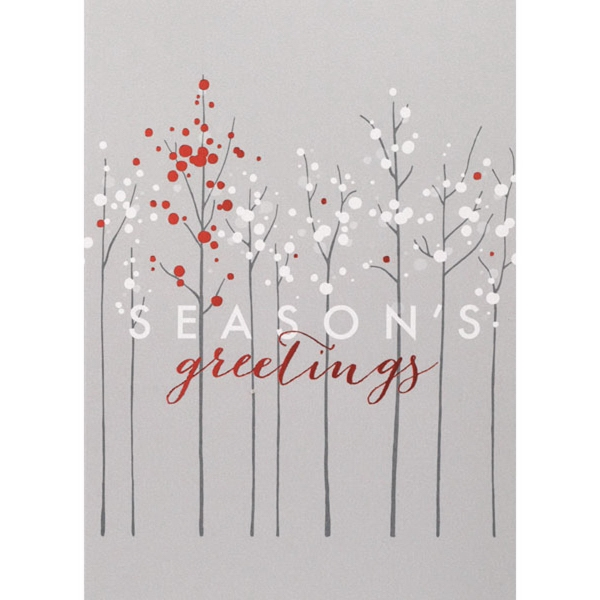 One Tree of Red Greeting Card