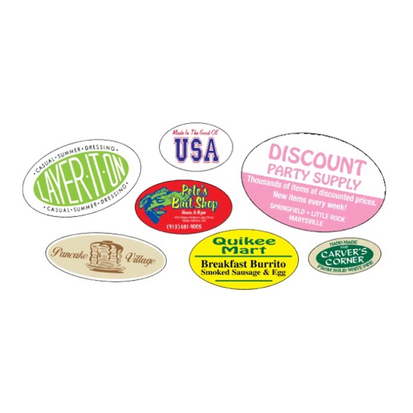 Oval Roll Labels - Oval Roll Labels