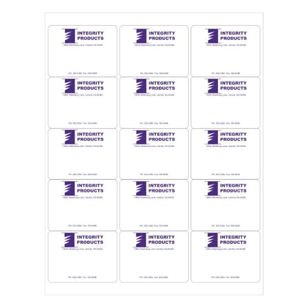 """2.6"""" x 2"""" - 15up 8.5 x 11  Custom Laser Labels - 2.6"""" x 2"""" - 15up 8.5 x 11  Custom Laser Labels 1,000 Sheets per Carton"""