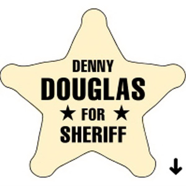 Sheriff Star - Recognition Label - Sheriff Star - Recognition Label