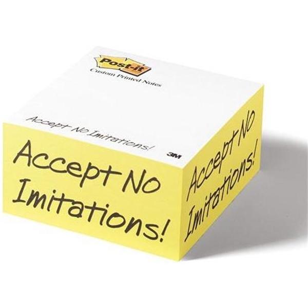 Custom Printed Notes Slim Cube