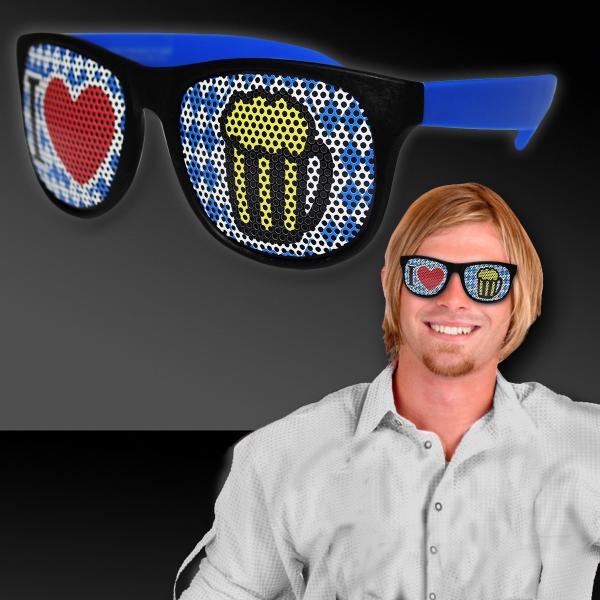 Bavarian inspired Oktoberfest Billboard Sunglasses