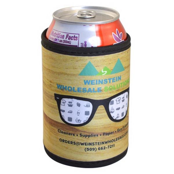 Premium Full Color Velcro Can Cooler