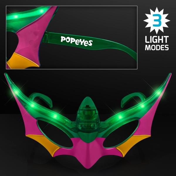 Purple, Green & Gold Mardi Gras Mask LED Shades