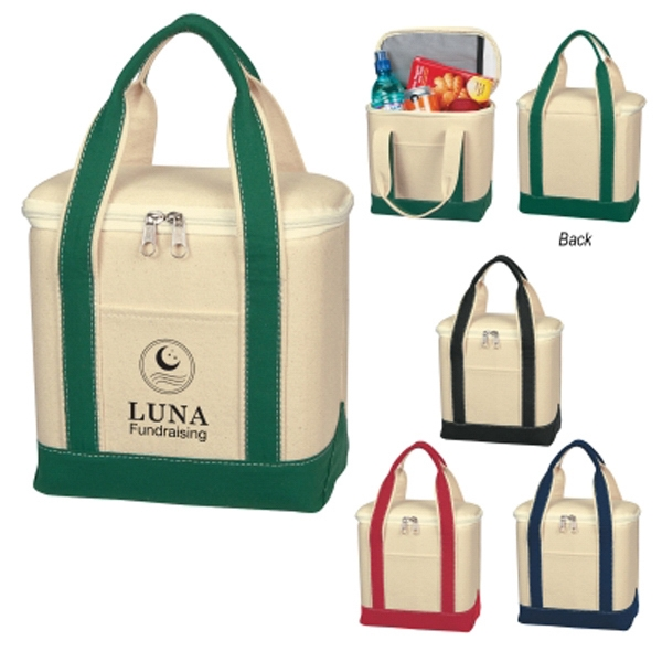 Small Cotton Canvas Kooler Bag