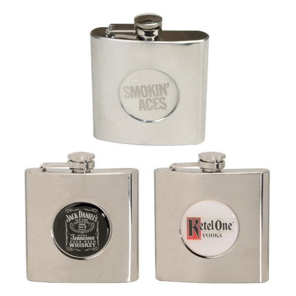 6 Oz. Stainless Steel Designer Flask