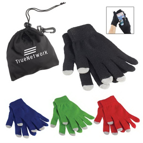 Touch Screen Gloves In Pouch