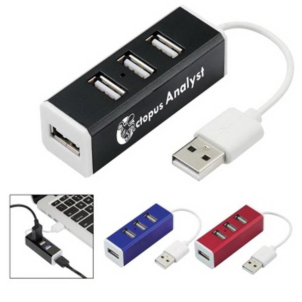 4-Port Aluminum USB Hub