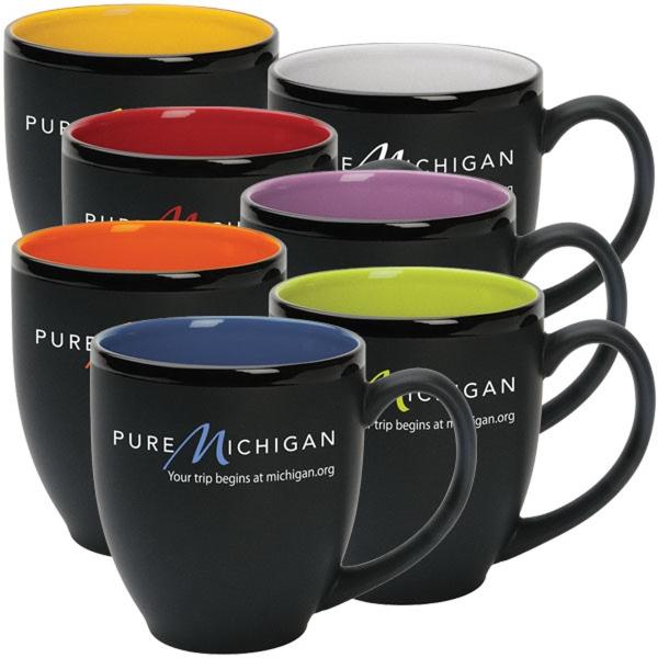 Hilo 14 oz. Bistro - Ceramic 14 oz. bistro mug with two-tone matte finish.