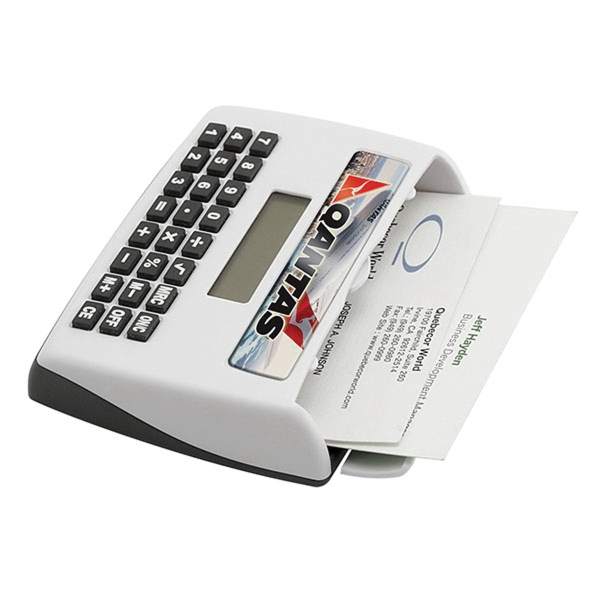 Desktop Calculator with Business Card Holder