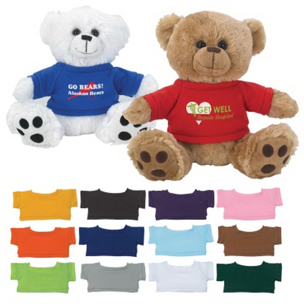 "8 1/2"" Plush Big Paw Bear With Shirt"