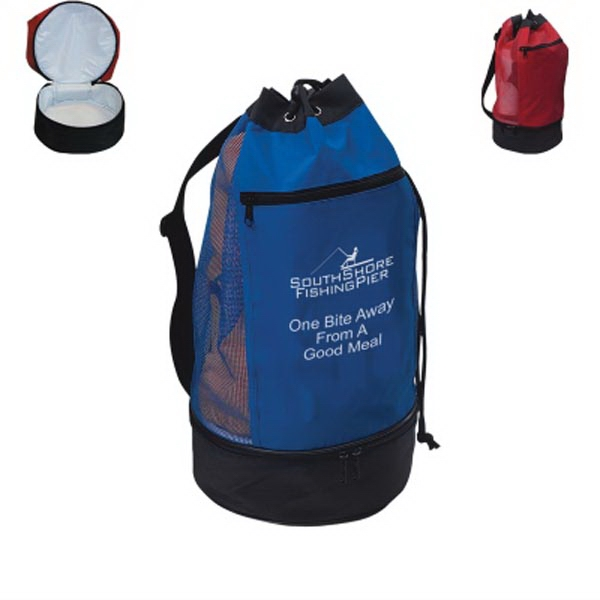 Beach Bag With Insulated Lower Compartment