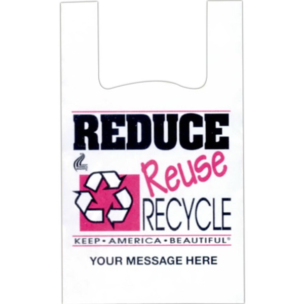 "Stock Design T-Shirt Grip Bags - Stock design T-shirt grip bag with 6"" side gusset."