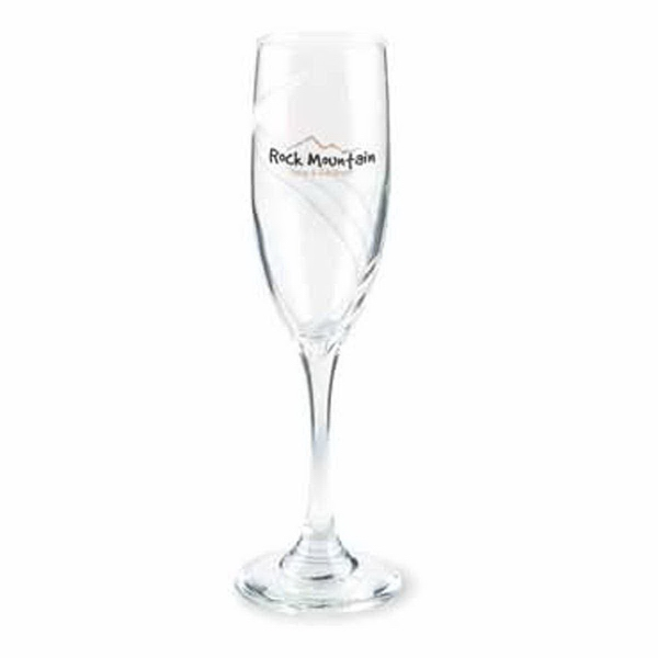 Swirl Etched 6 oz Flute