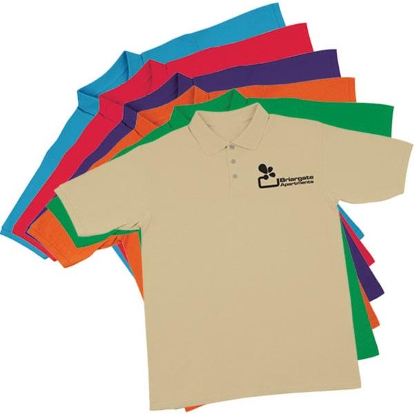 Mens polo shirt screen printed for Screen printing polo shirts