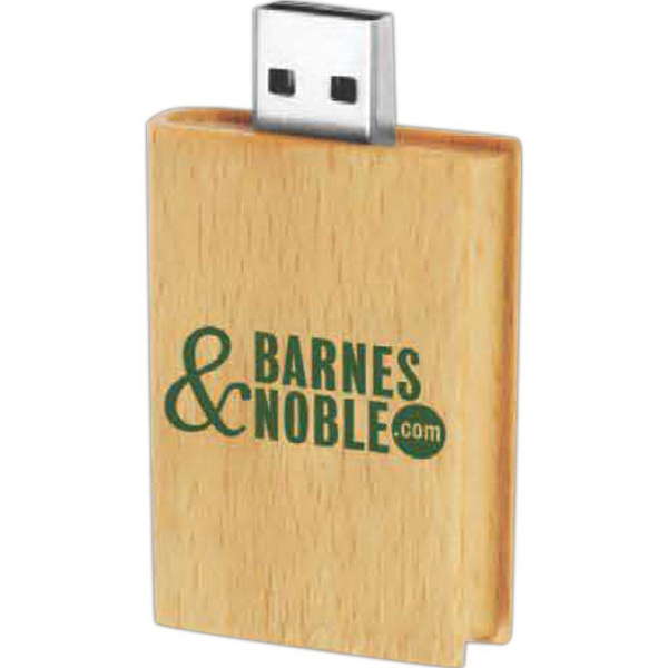 4GB Eco Book Wood Drive (TM) EB