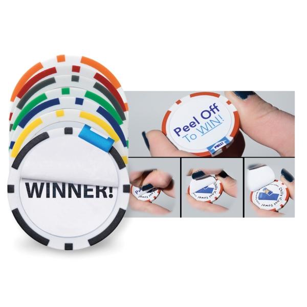Peel Off Poker Chip Ball Marker