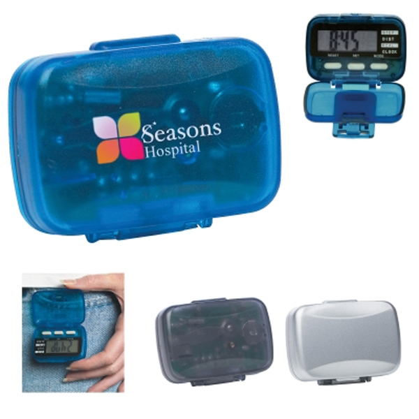 Multi-Function Pedometer With Clock