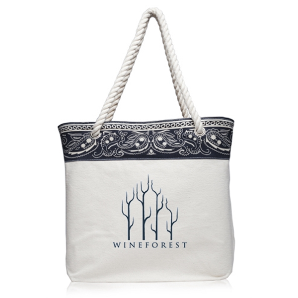 Paisley Canvas Tote Bags