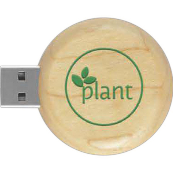 16GB Eco Round Wood Drive (TM) ER
