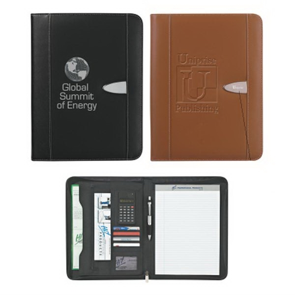 "Eclipse Bonded Leather 8 1/2"" x 11"" Zippered Portfolio"