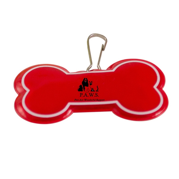 DOGGIE BONE REFLECTIVE TAG