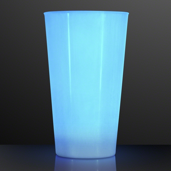 16 Oz. LED Blue Glow Cup