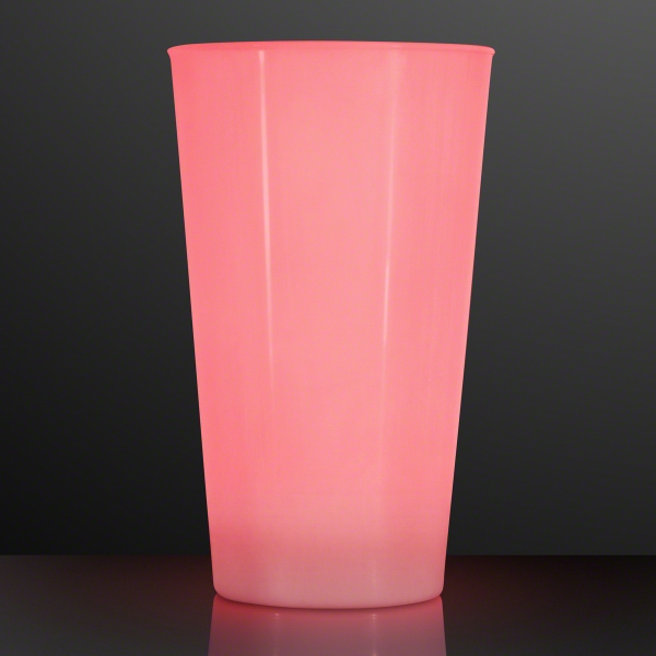 16 Oz LED Red Glow Cup