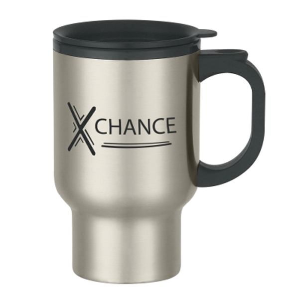 16 oz. Stainless Steel Travel Mug With Sip-Thru Lid
