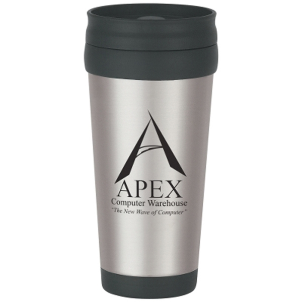 16 oz. Stainless Steel Tumbler with Slide Action Lid