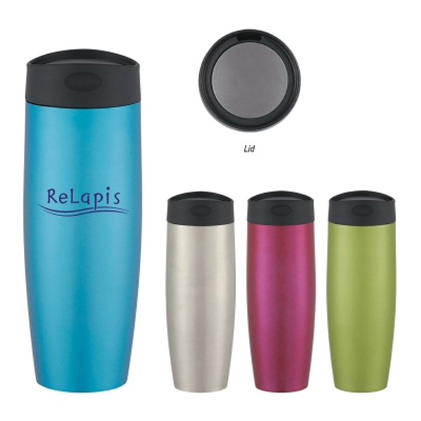 16 oz. Metallic Sorbet Stainless Steel Tumbler