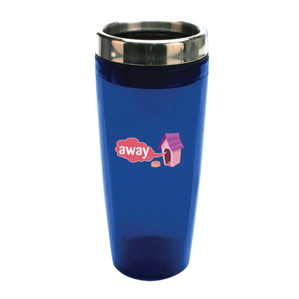 18 oz. Translucent Double Wall Insulated Tumbler