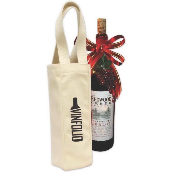 Brand Gear (TM) Toscana Vineyard Wine Tote - 10 oz cotton canvas wine tote.