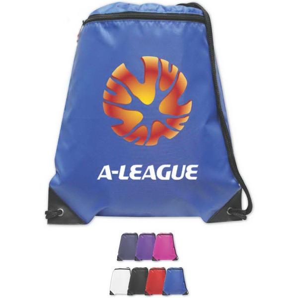 Brand Gear (TM) Olympia Drawstring Backpack (TM) - Nylon drawstring backpack.