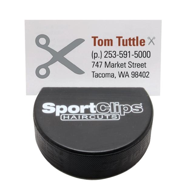 Hockey Puck Business Card Holder