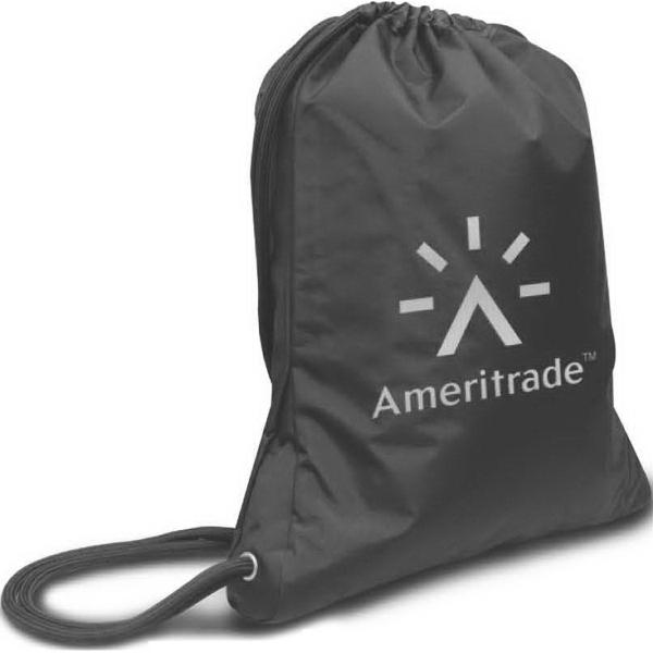 Brand Gear (TM) NYC Drawstring Backpack (TM) - 100% polyester microfiber drawstring backpack.